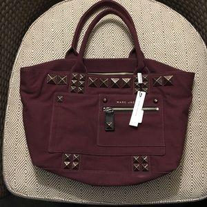 Marc Jacobs Maroon Canvas Studded Bag BNWT